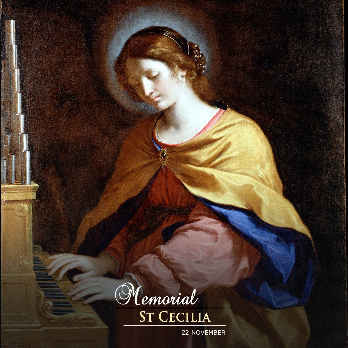 A roman martyr of the second or third century, Cecilia is thought to have converted her husband and his brother to Christianity, and they were martyred before her. She is the patron saint of #musicians #saint #memorial<br>http://pic.twitter.com/SBqJNIPgiK