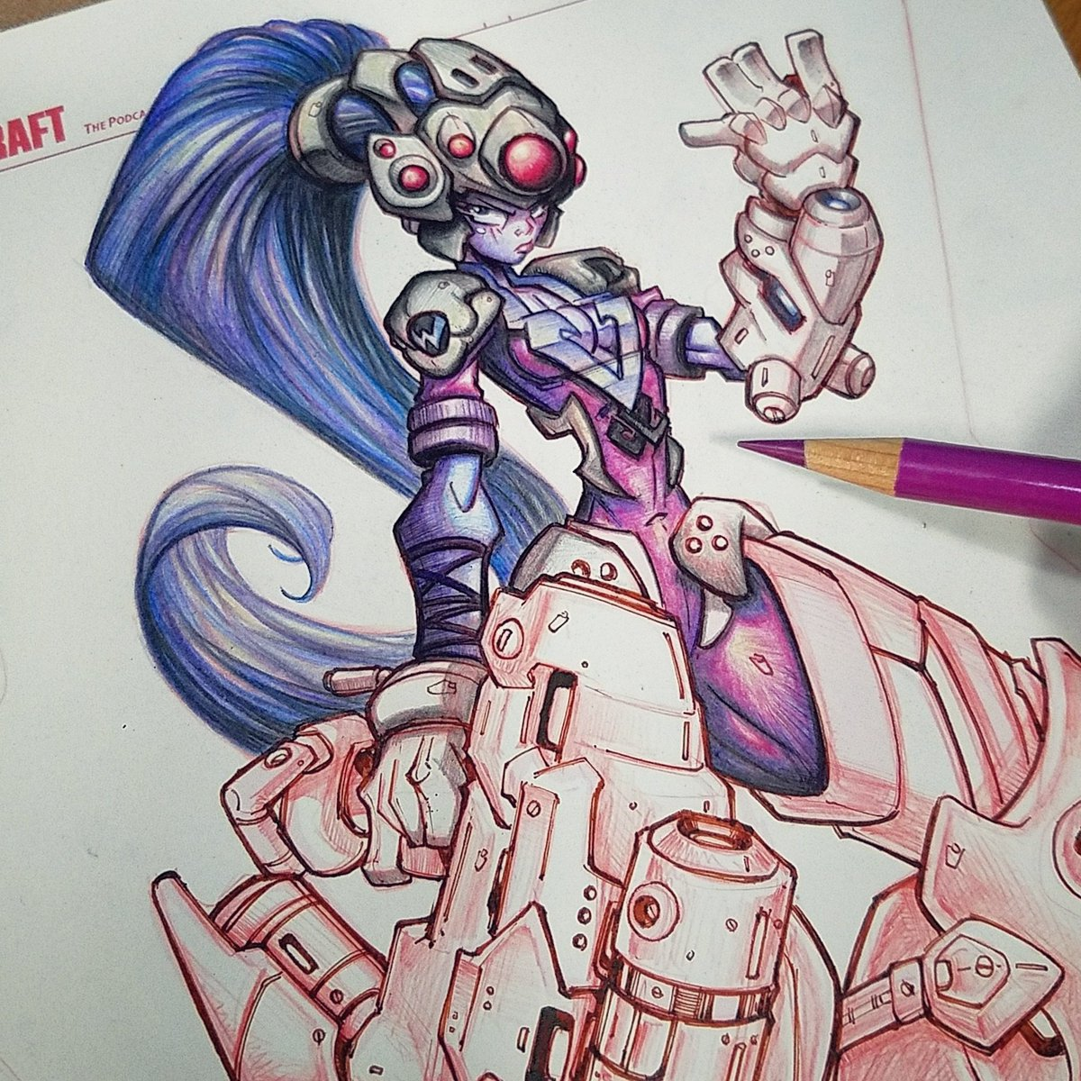 Widowmaker Commish Dev:  Color pencil&#39;n... #overwatch #widowmaker #colorpencil #sketch #pencil  #commission #commissions<br>http://pic.twitter.com/dIgFTdByQE