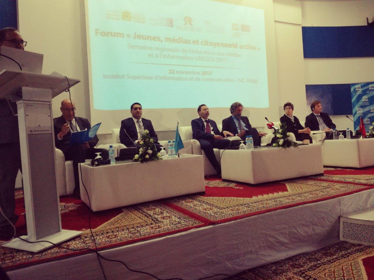 L'éducation à l'Information et à la communication au coeur des travaux du forum sur les jeunes, médias et citoyenneté active. #MILWEEK #UNESCO @UNESCO_Maghrebpic.twitter.com/NN7ooxsCZ5