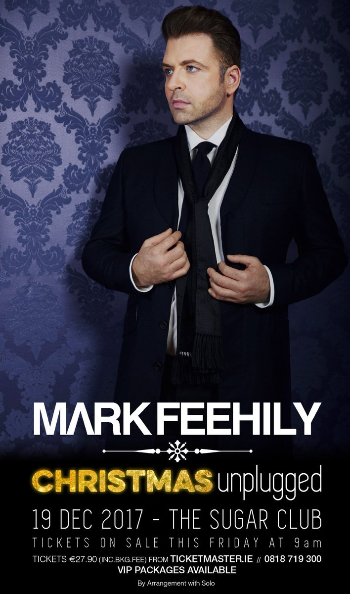 Just announced! @MarkusFeehily , will perform Christmas classics at @sugarclubdublin on 19 December to celebrate the release of his festive album &#39;Christmas&#39;. #Tickets on sale go on sale this Friday  http:// bit.ly/2jP6WU7  &nbsp;  <br>http://pic.twitter.com/AiPFmitHrE