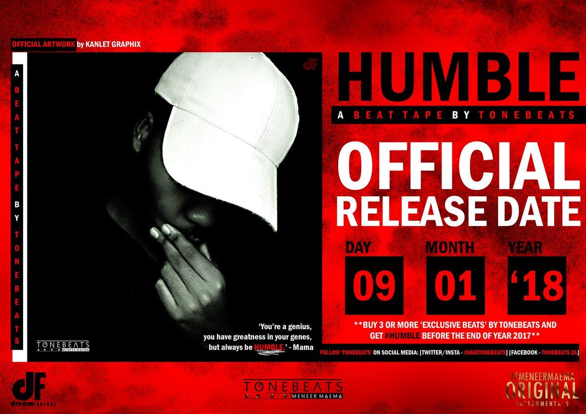 #Humble - Beat Tape #Official Release Date!! #SAHipHop<br>http://pic.twitter.com/gfOOu9lYNB