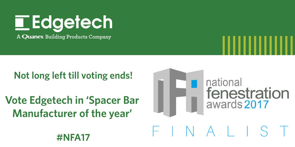We&#39;re finalists for @NatFenAwards, please vote for us at:  http://www. fenestrationawards.co.uk/spacer-bar-man ufacturer-2017/ &nbsp; …  #NFA17 #superspacer <br>http://pic.twitter.com/Rsni8QeO6y