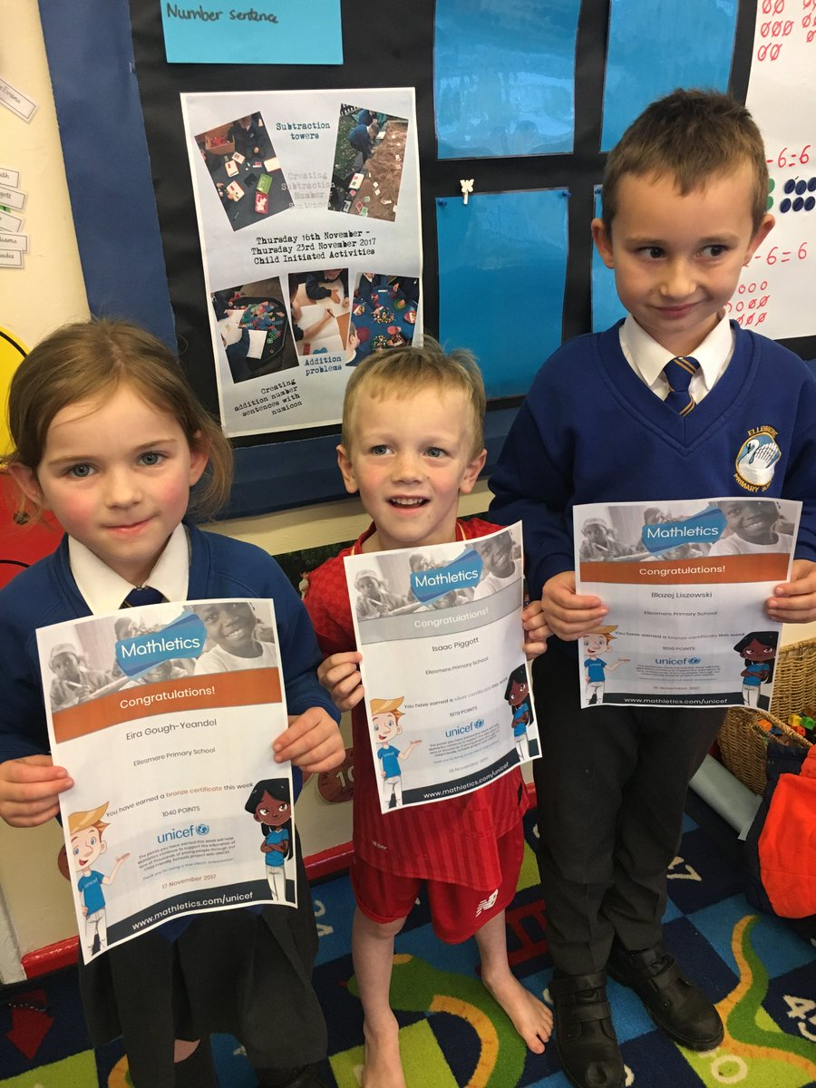 Wonderful maths taking place on @mathleticsuk at home this week in Year 1 with children achieving bronze and silver certificates #maths #mathematicalmindsets #achieve