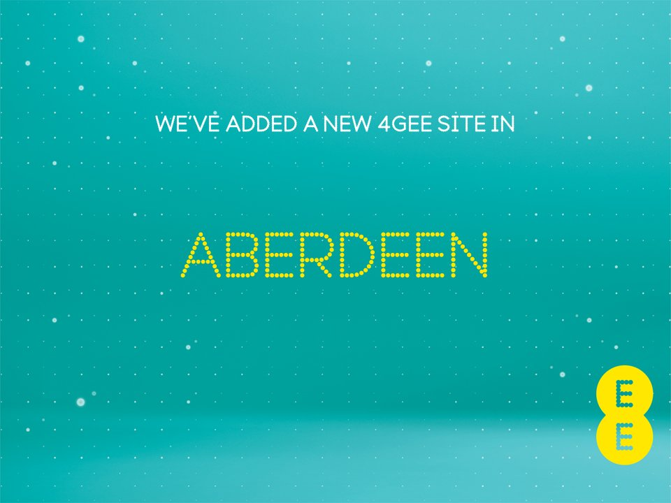Hi #Aberdeen, birthplace of football legend - and scorer of THAT backheeled goal - Denis Law, we&#39;ve activated another new 4G site in your town. <br>http://pic.twitter.com/z7wOtoIwHM