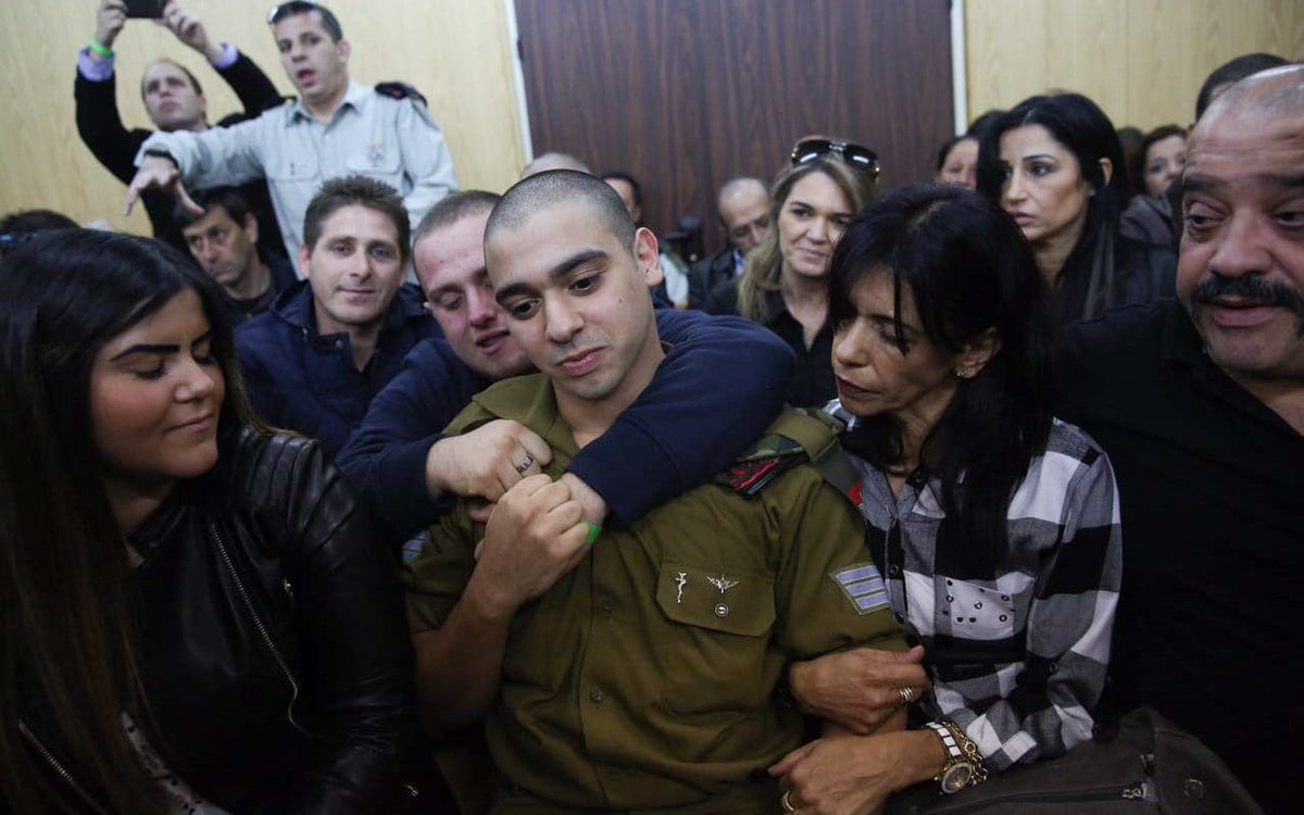 #Palestine -zio court gives 2 LIFE SENTENCES 2 Malek Hamed 4 killing #occupier #ISRAELI ,  Sgt. Elchai Taharlev   BUT UGLY #EVIL #Israeli soldier gets ONLY 18 months  for &gt;&gt;&gt;&gt;Executing &gt;&gt;&gt; wounded #Palestinian<br>http://pic.twitter.com/rRW7GOWGFB