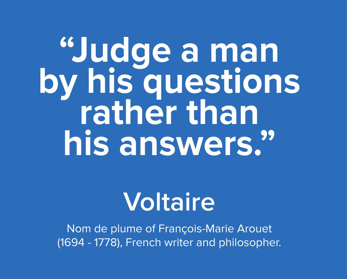 Some #WednesdayWisdom from #Voltaire  (or perhaps it should be &#39;Some #WednesdayWisdom from Voltaire?&#39;)<br>http://pic.twitter.com/AXSm2gpeHG