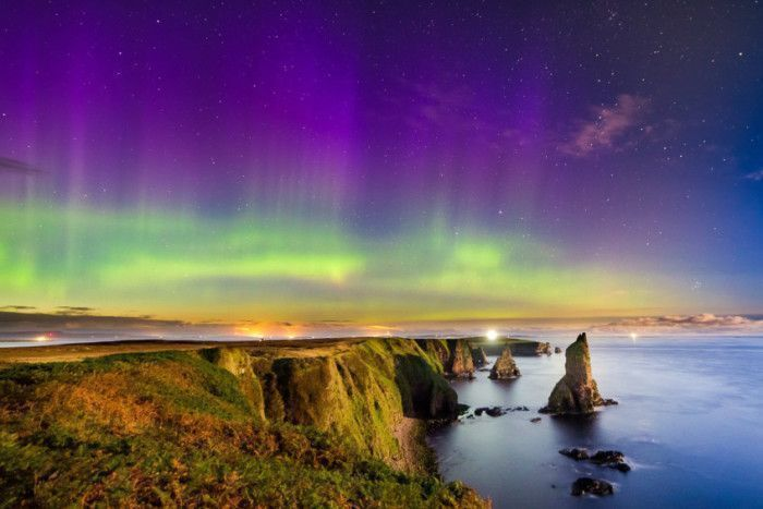 Northern Lights captured in Caithness, Scotland.  https:// buff.ly/2mGnM8L  &nbsp;   #NorthernLights #StormHour<br>http://pic.twitter.com/IYfFi14wYj