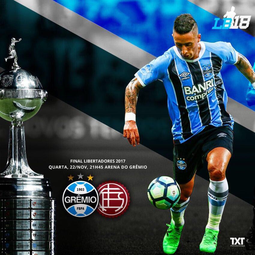 Momento esperado por todos nós do Grêmio! A final da Copa! Vamos Tricolor! 🔵⚫️⚪️#Libertadores#Gremio#LB#18⚽️⚽️⚽️