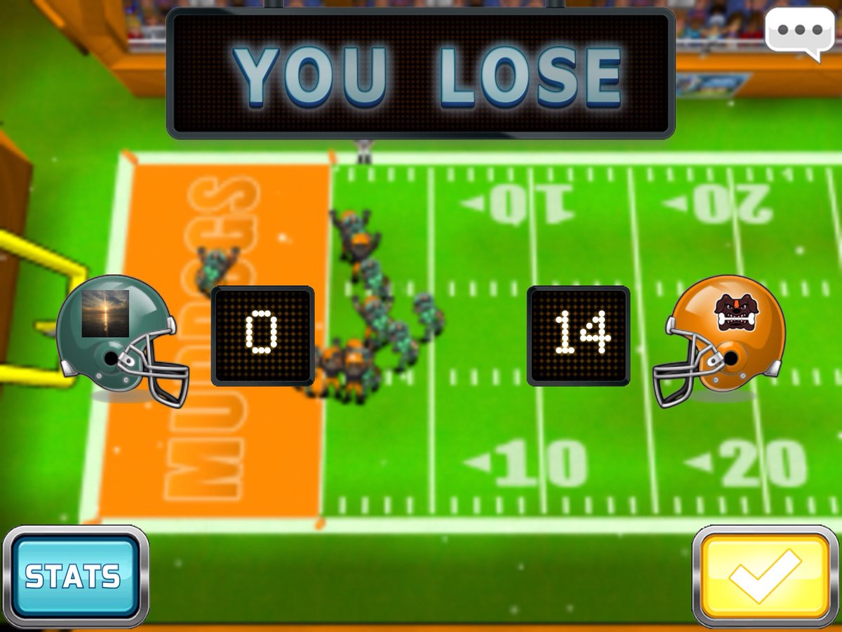 The dolphins just lost to the Muddogs, 0 - 14. #football #fbhpro2017  http:// footballheroesgame.com/pro2017ios  &nbsp;  <br>http://pic.twitter.com/LuC6wmb9SO
