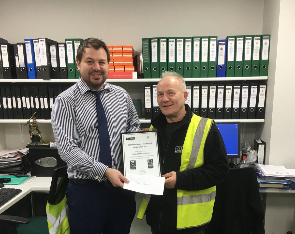 A huge well done once again to Tadeusz Brzoskowski, CLEAN '#Driver of the month' at #Slough #Laundry for going above &amp; beyond in his role. #Everyday #excellence<br>http://pic.twitter.com/8gqm4g89Sj