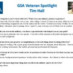 GSA is proud to have Veterans like Tim Hall on our team! Thank you for your service. We salute you! #HonoringVets #VeteransMonth