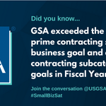 GSA is proud to be a champion for small business participation in the federal government. Find information and resources for small businesses at https://t.co/za88O0ofAE #SmallBizSat