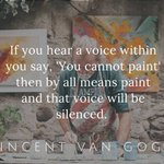A little Van Gogh wisdom is feeling super relevant...