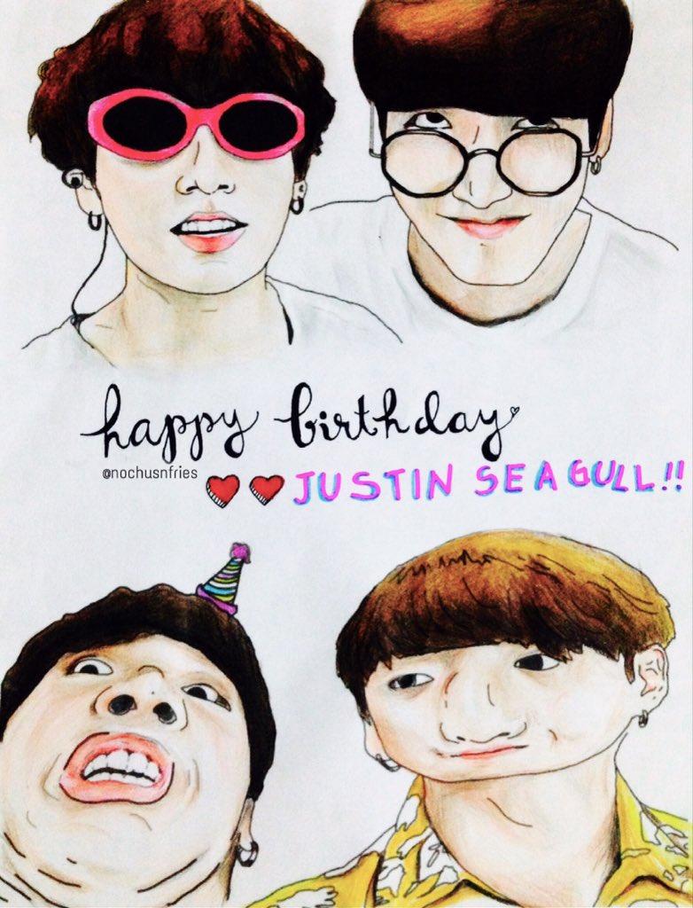 170901 HAPPY BIRTHDAY JUSTIN SEAGULL!!!  #HappyJungkookDay #꾹이생일축ᄒpic.twitter.com/PalOJaqgYn
