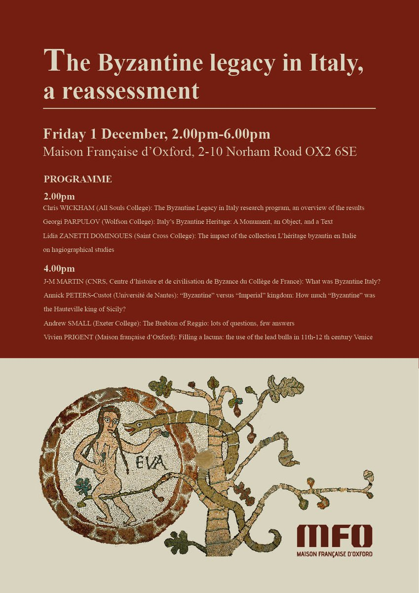 maison franaise on twitter coming soon mfoxford the byzantine legacy in italy a reassessment oxbyz oxfordhistory ashmoleanmuseum friday 1 december