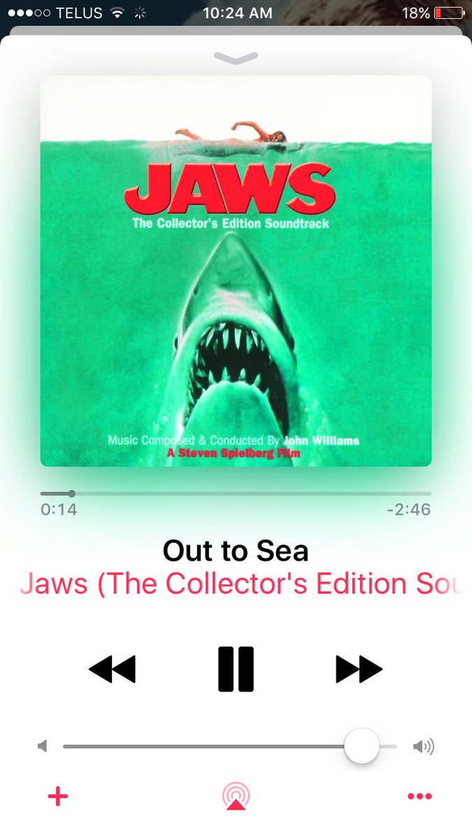 THIS piece of music is pure heaven! #jaws #outtosea<br>http://pic.twitter.com/C7dEUY78fS