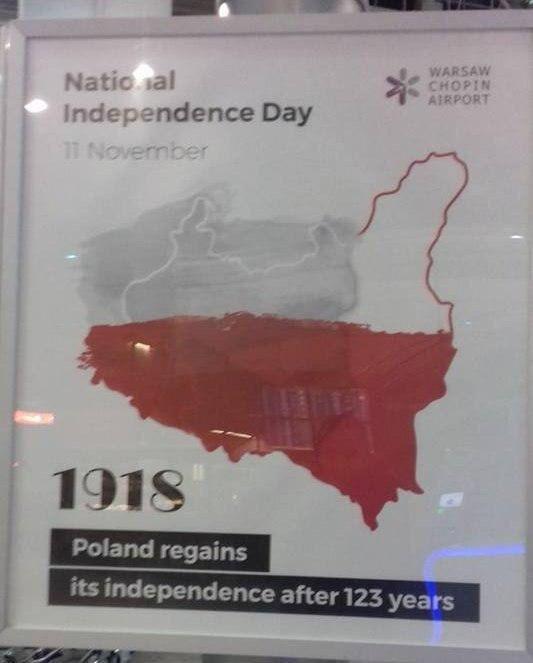 Lenkijos 100-metis - su Lietuvos, Baltarusijos ir Ukrainos žemėmis....
