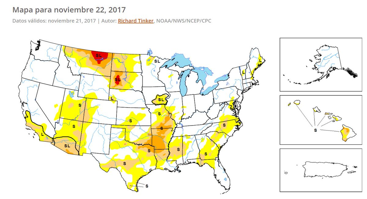 Drought Center DroughtCenter Twitter - Us drought map 2016