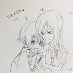 いい夫婦の日って聞いたのでシロクロ描きました。うぇい。サイン忘れた https://t.co/9us...