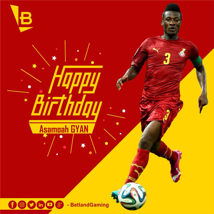 Happy 32nd Birthday, Asamoah Gyan  Africa\s All-time topscorer at the World Cup