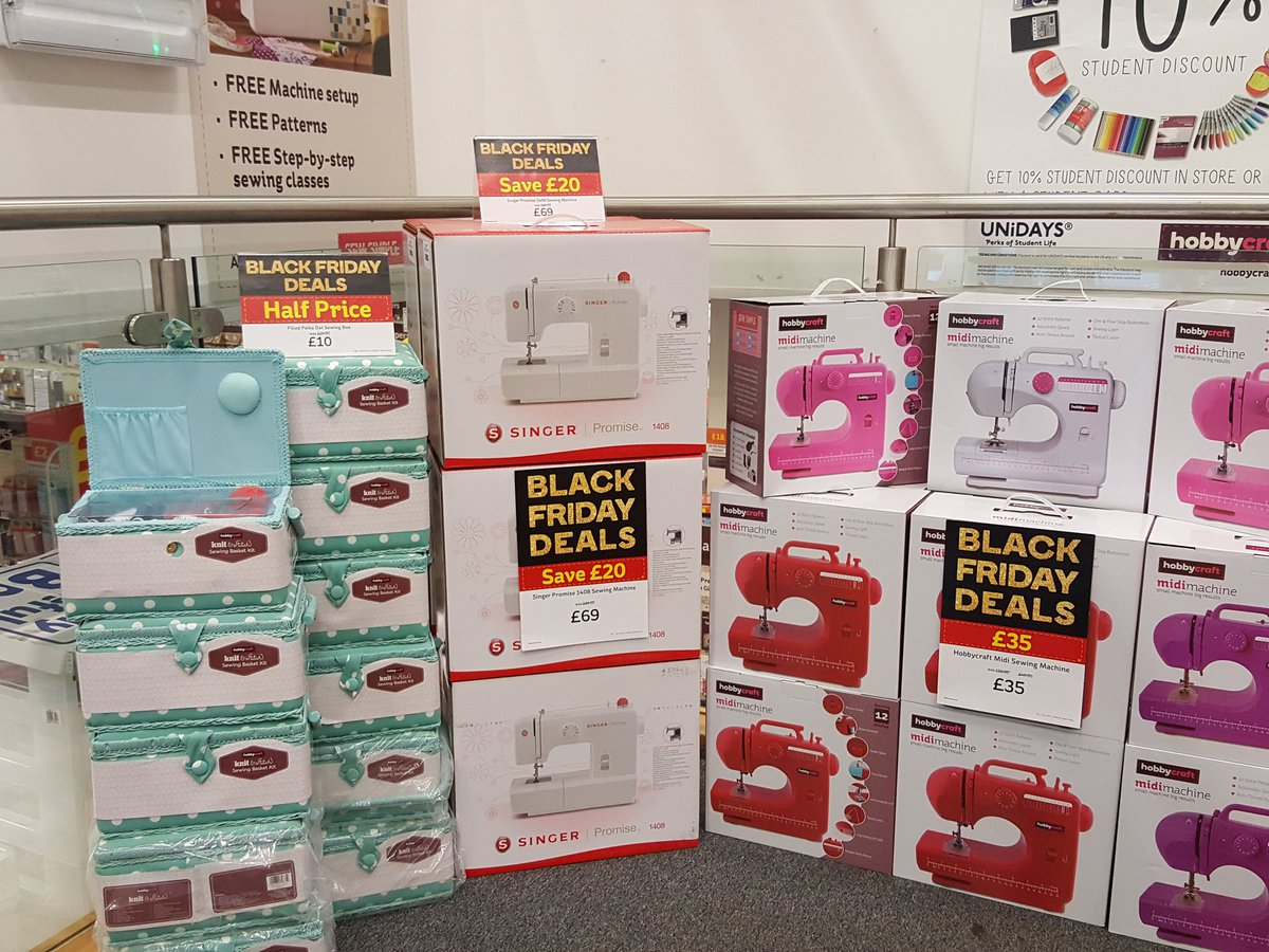 Just some of our #blackfriday deals on sewing machines and accessories #abdn #Aberdeen #aberdeenshire #hobbycraft #Unionsquare<br>http://pic.twitter.com/4gt8up1p8H