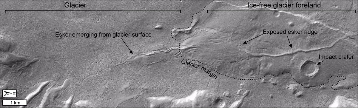 Our new paper: &#39;Recent basal melting of a mid-latitude glacier on Mars&#39; is published #openaccess  today in collaboration w/  @_stephen_lewis_  @Mattbalme @PlanetEnviroOU @OUPhysSci, @ucddublin @scottpolar and LPG Nantes: Read it here:  http:// onlinelibrary.wiley.com/doi/10.1002/20 17JE005434/full &nbsp; …  @OUGradSch @OU_STEM<br>http://pic.twitter.com/j4fJpr1H5r
