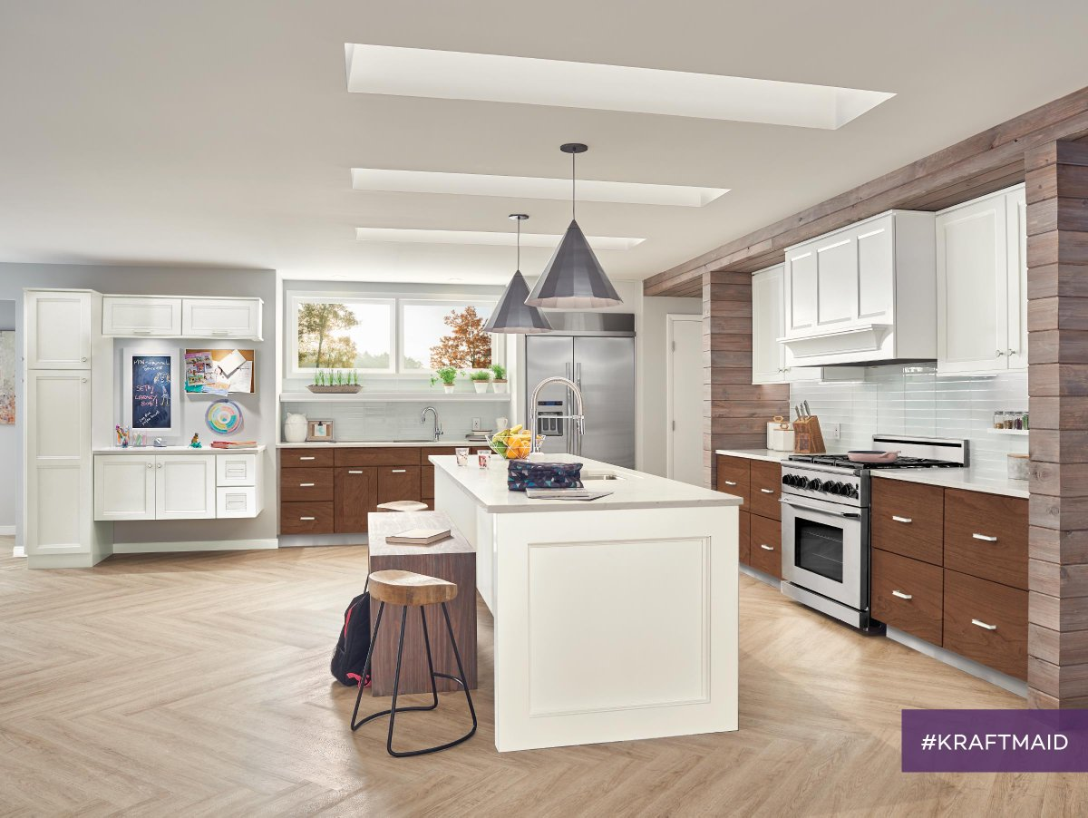 Kraftmaid Kitchen Cabinets With Gl Panels Design Ideas