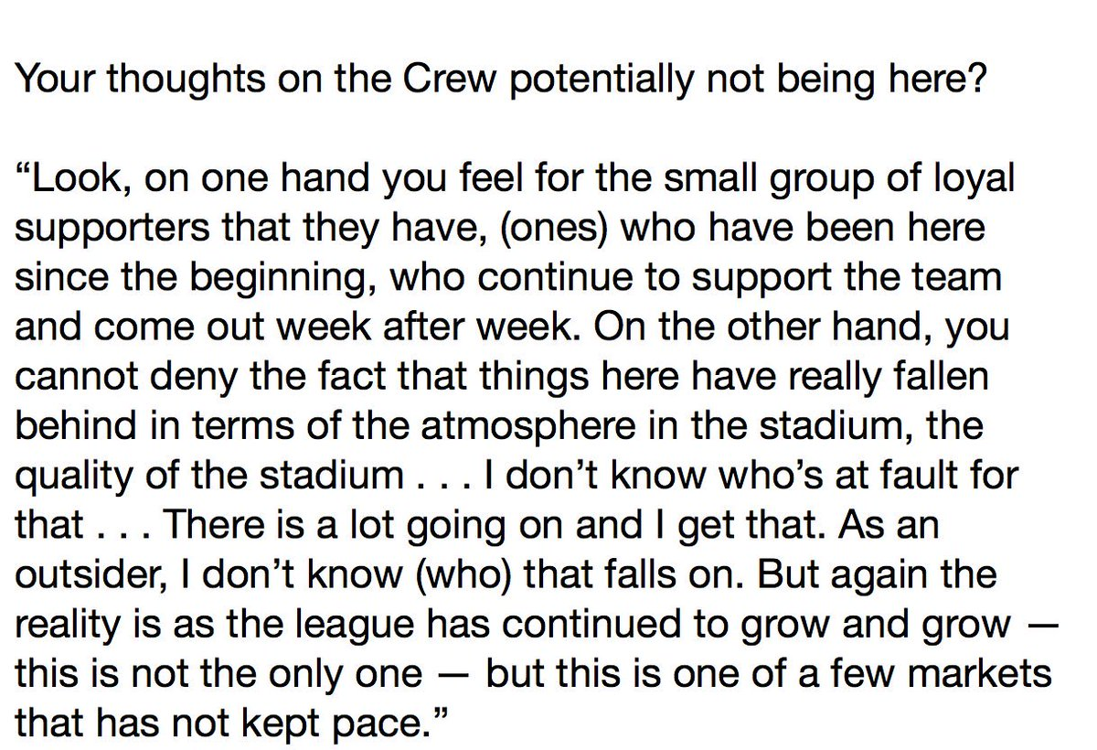 Michael Bradley is 100% right. Last time his team played in Columbus only 10,000 showed up to the game. #SaveTheCrew isn&#39;t fooling anyone. What&#39;s the point of saving the Crew when this will keep on happening. Interest has only risen b/c they fear #MLS2ATX, #Austin, #ATX<br>http://pic.twitter.com/kq7ACdrge1