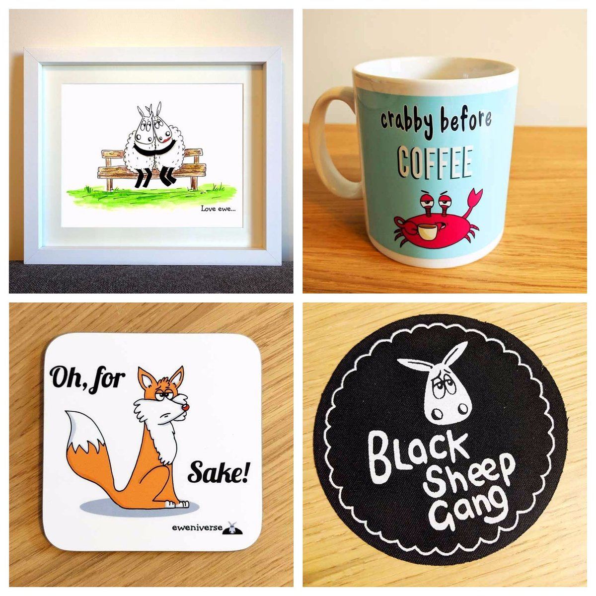Some of the puntastic goodness at  http://www. eweniverse.com  &nbsp;   (currently reduced until Friday!)  #HandmadeHour #MidlandsHour #GlosHour #Sheep #OnlineCraft #CraftBuzz #etsyseller<br>http://pic.twitter.com/NXEO8sxo2c