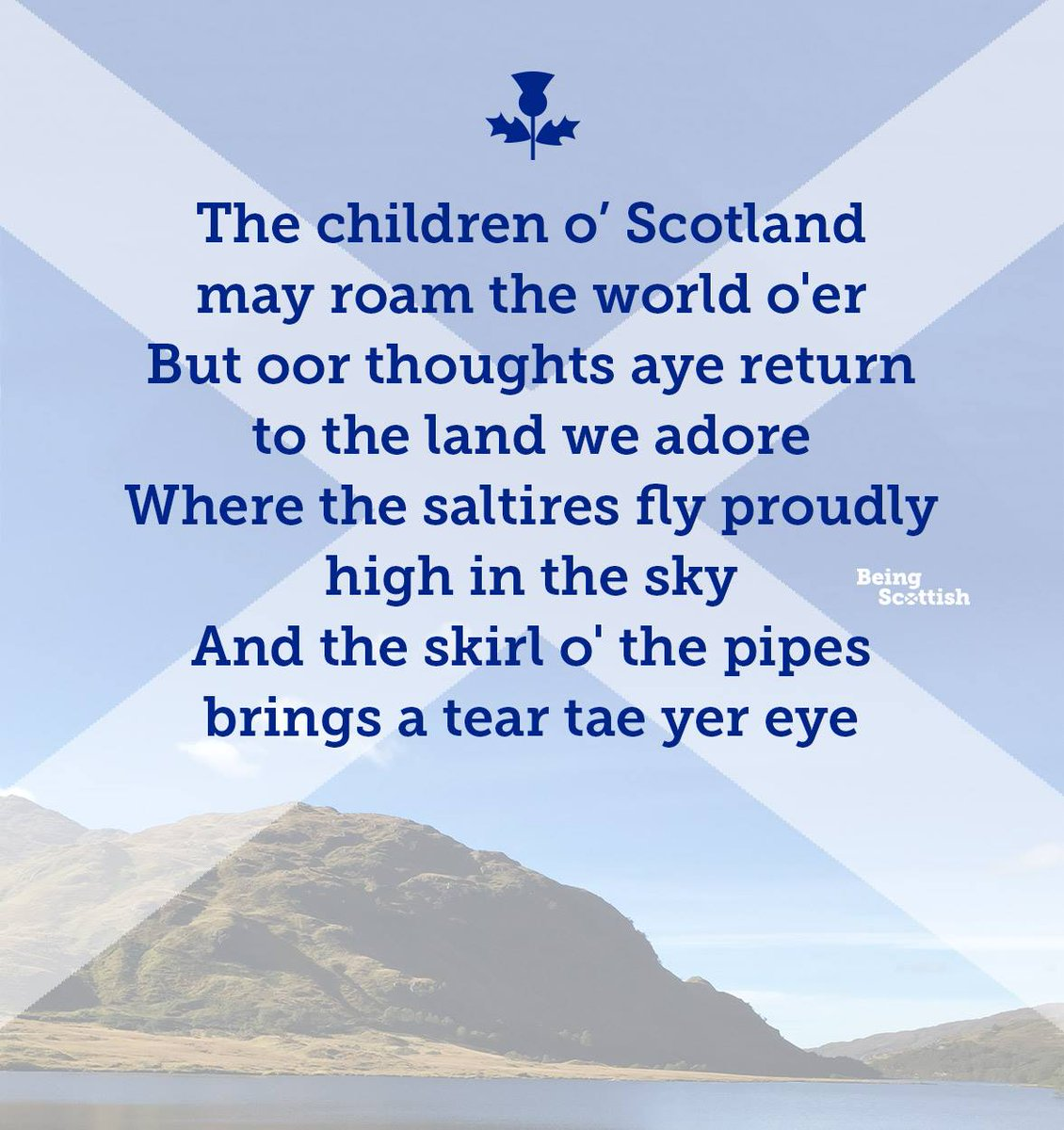 RT @BeingScots: Scotland stays with ye, wherever ye may be... #BeingScottish https://t.co/aJPYuFgVww