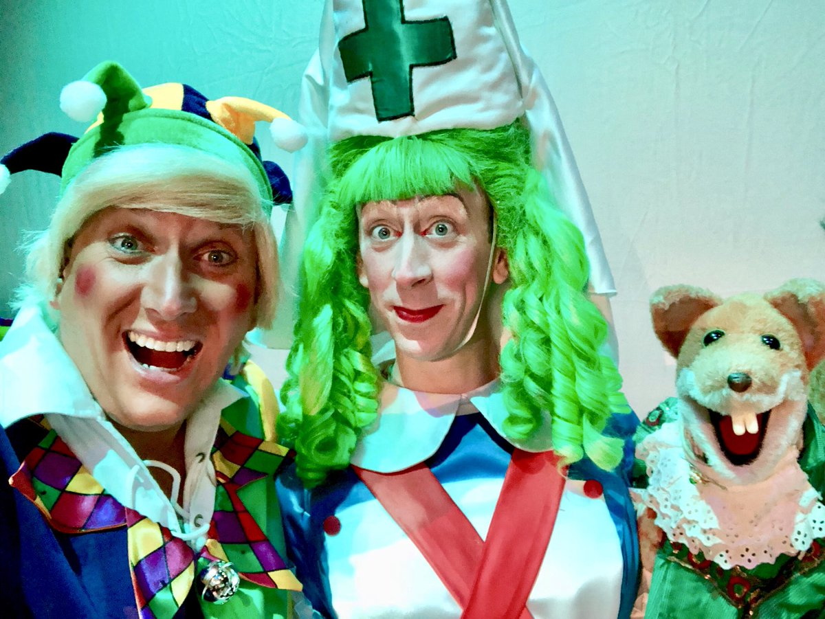The #windsor Panto Trio are back together @TheatreWindsor @realbasilbrush Another fab day of rehearsals. One of my favourite years so far. Hope you enjoy it as much as we are learning @steven_blakeley 's script  Day 4 tomorrow. One week till we open <br>http://pic.twitter.com/UkGANAZlYP