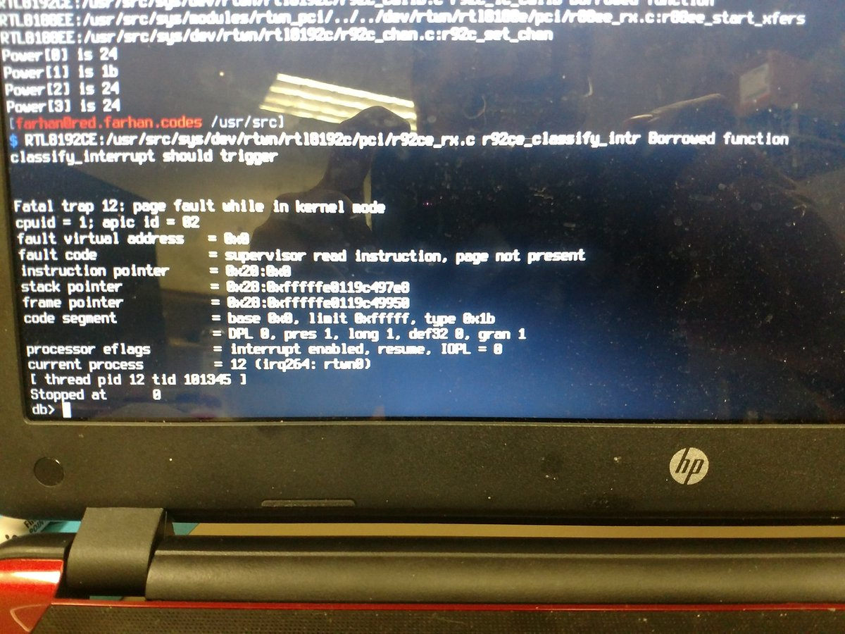 Why this page fault? #FreeBSD <br>http://pic.twitter.com/YJfbEXMOHJ