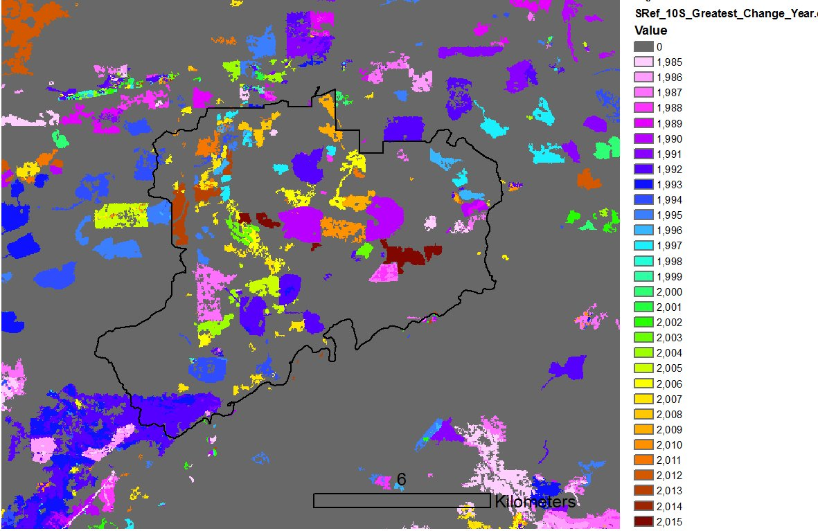 Change detection at the ALRF. Great work from the @IRSS_UBC team Look up your area:  https:// goo.gl/7Tyra6  &nbsp;   #Landsat #Forests <br>http://pic.twitter.com/ZLxX9URsQj