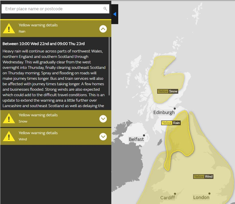 test Twitter Media - #BeAware of the yellow weather warnings @metoffice  🌧️ Rain warning in place until 4am ❄️ Snow warning from Midnight until 1pm  For areas affected check https://t.co/ruONoU0Dry https://t.co/RQuCDFv0jL