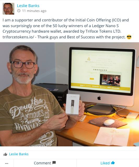 Congratulations to Leslie Banks! #cryptocurrency #coldwallet #community #Gaming<br>http://pic.twitter.com/ajKGmPxa8o