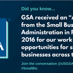 GSA's Office of Small Business Utilization continually seeks creative ways to improve the small business experience. Learn more about @GSAOSBU at https://t.co/oxNZk5EJ4g #SmallBizSat