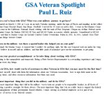GSA is proud to have Veterans like Paul L. Ruiz on our team! Thank you for your service. We salute you! #HonoringVets #VeteransMonth
