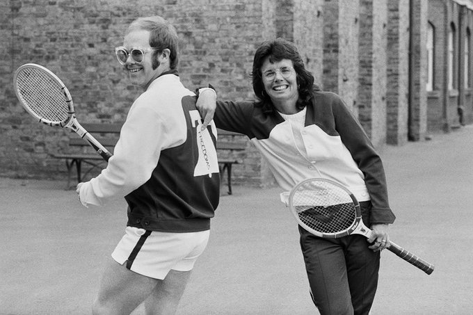 Happy Birthday Billie Jean King! Here she is with Elton John.
