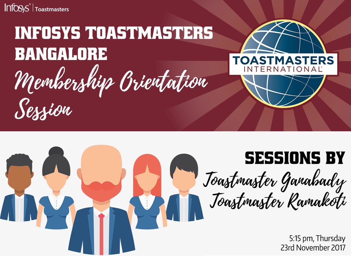 #Membership #Orientation #Session for all the new members. Get Insights and knowledge of club, roles, communication and leadership tracks and many more from our experienced toastmasters. #Toastmasters #WhereLeadersAreMade #PublicSpeaking #Communication<br>http://pic.twitter.com/cSf41iyEBg