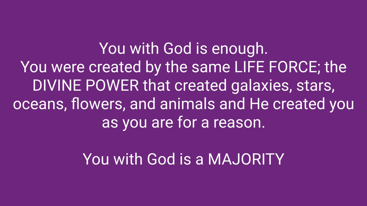 You with God is a majority. https://t.co...