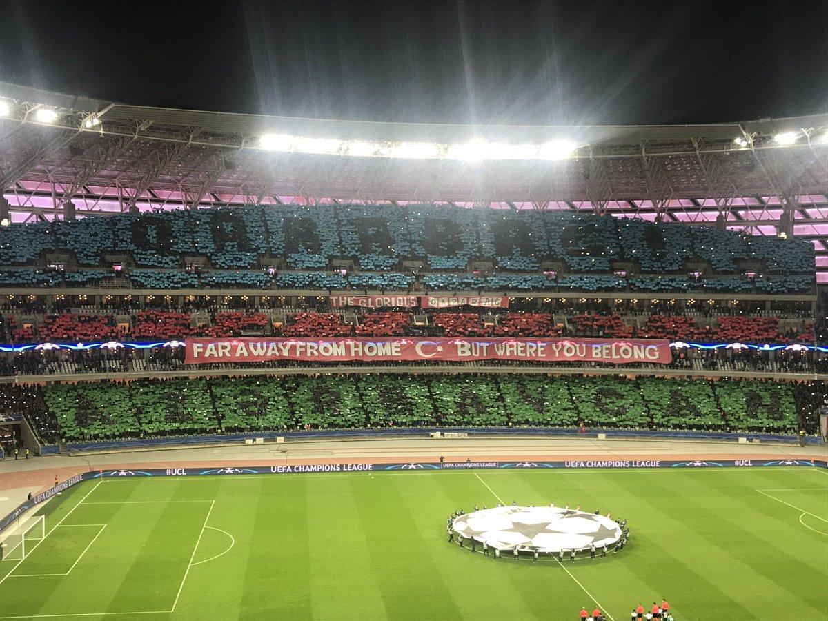"""""""Qarabağ"""" - """"Çelsi"""" matçında möhtəşəm xoreoqrafiya (Foto)"""