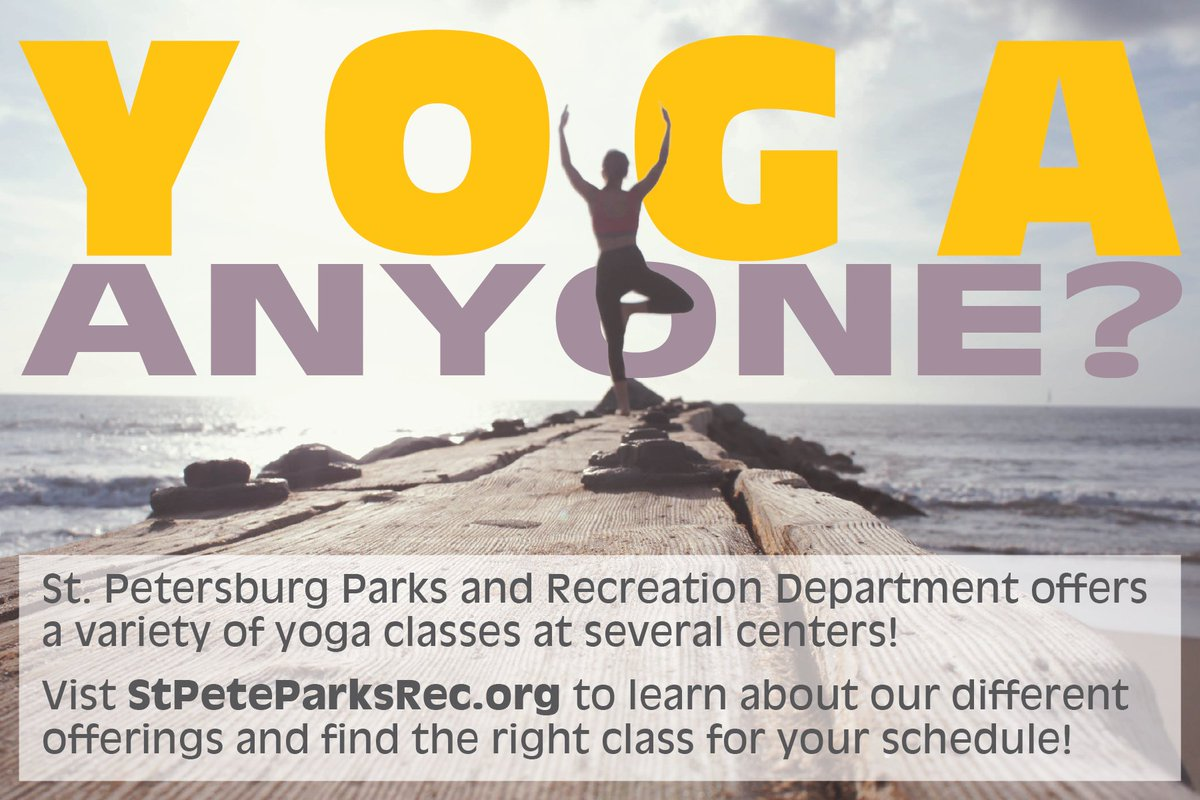 "st pete parks & rec on twitter: ""we offer several yoga classes at"