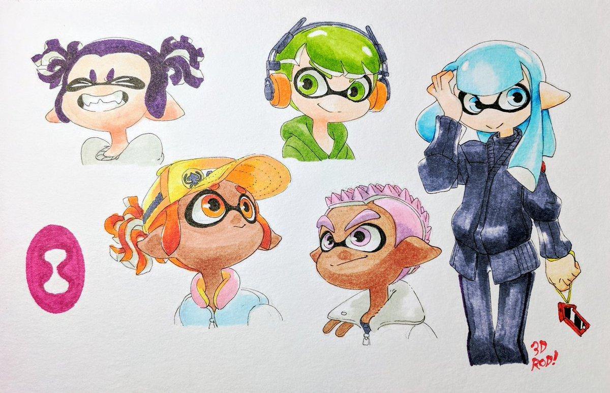"Splatoon 2 Hairstyles: 3DROD On Twitter: ""Ya'll Know Imma Be Wearing Those Bangs"