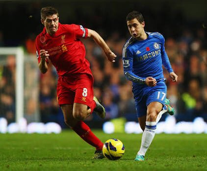 """Gerrard to BT on Hazard: &quot;He is Chelsea's catalyst. Playing against them he was a nuisance, a nightmare."""" #CFC <br>http://pic.twitter.com/dCLWvzKnWj"""