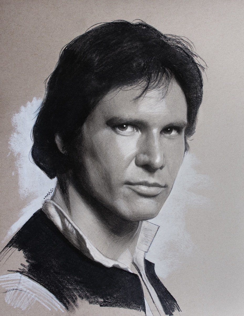 My new drawing of #HarrisonFord in charcoal and graphite on toned paper. Full details:   http://www. instagram.com/maas.art  &nbsp;    #starwars #hansolo <br>http://pic.twitter.com/WvISWaw6hO