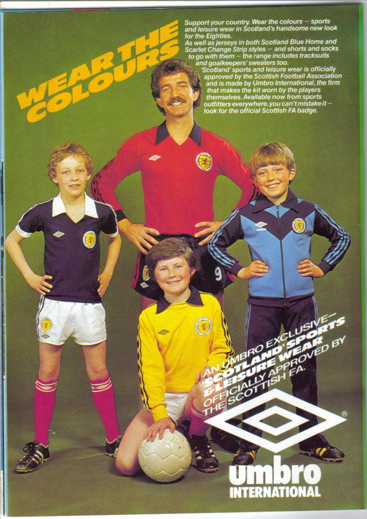Umbro advert from 1980 ScottishFA programme