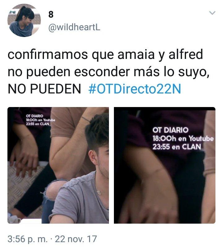 Y así estamos con Almaia #OTDirecto22N h...