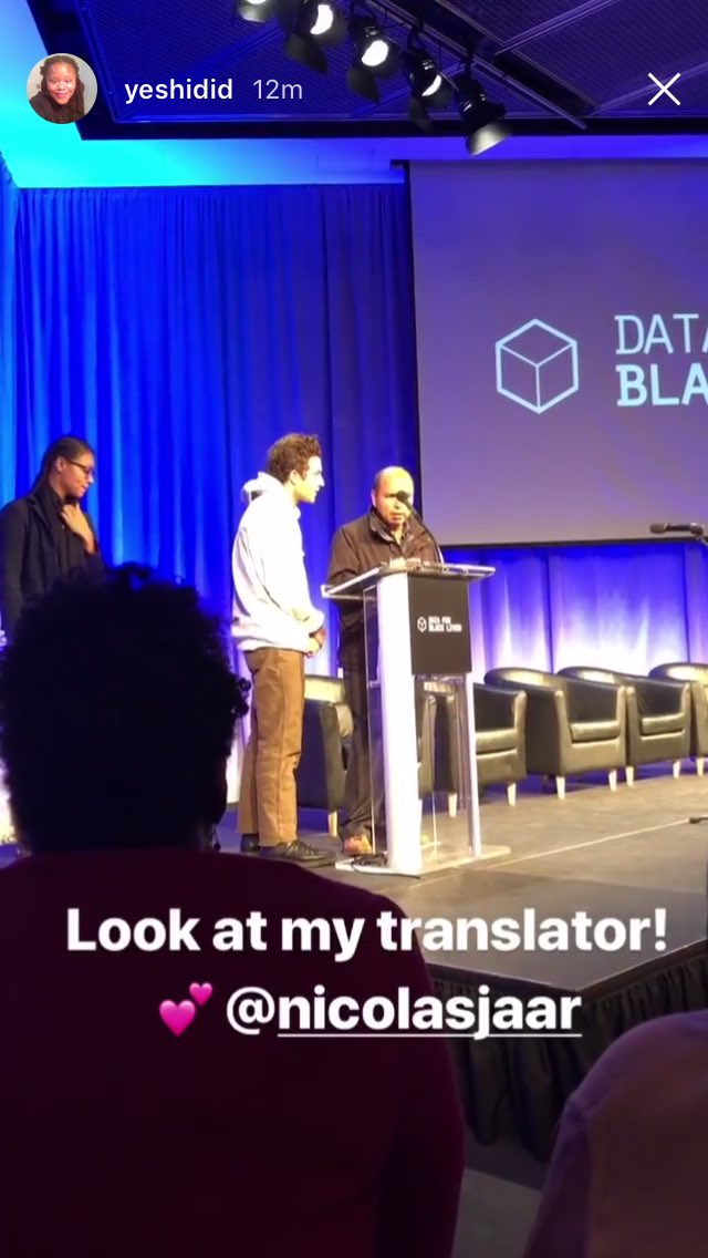 i also got to make my debut as a live translator 🤓