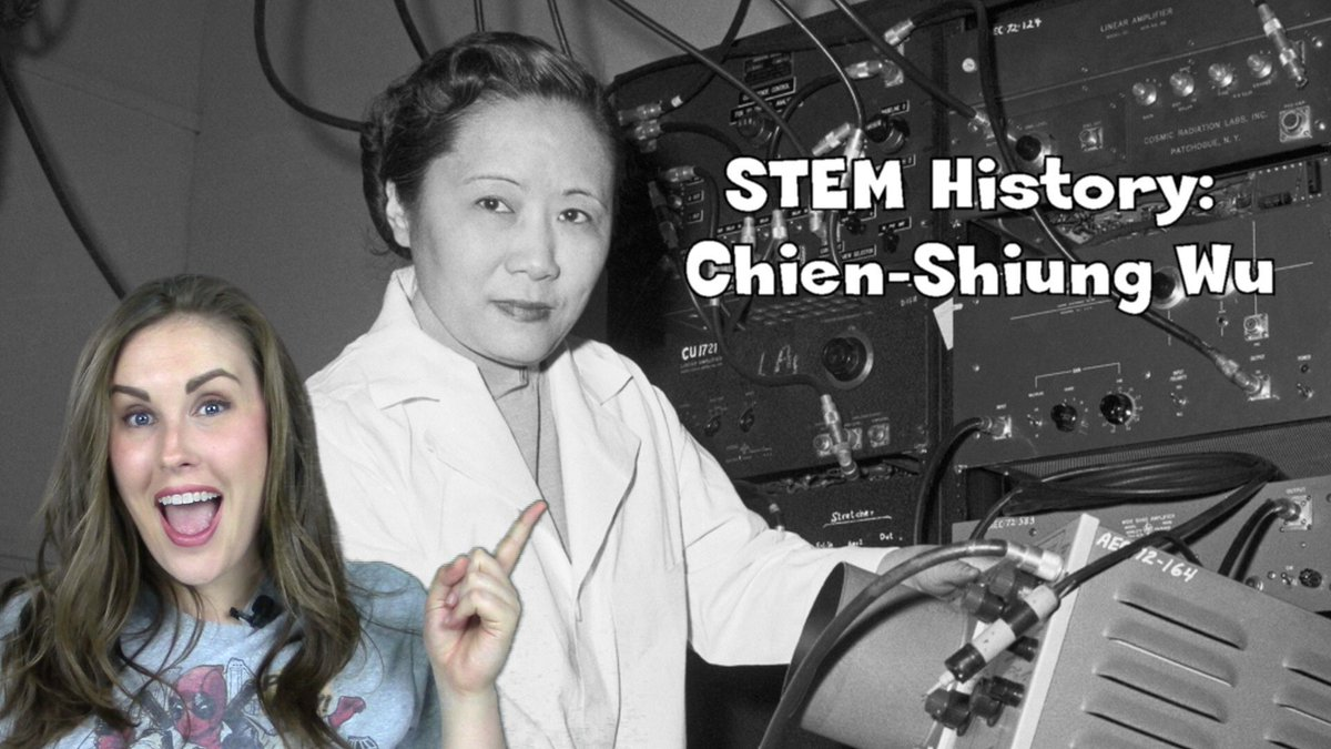 NEW VIDEO ALERT!  Check out the latest episode of #STEMHistory to learn about the First Lady of Physics, Chien-Shiung Wu, and SUBSCRIBE! #STEM #SciComm   https:// buff.ly/2zrHgnP  &nbsp;  <br>http://pic.twitter.com/Aw6OfW7Qhy