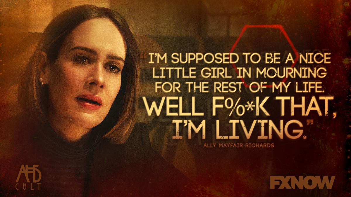 She won't let anyone control her anymore.#AHSCult https://t.co/6ysVC0QG7c